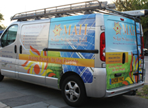 MAH Solar Solutions Vehicle Wrap